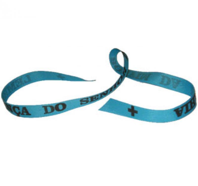 Senhor do Bonfim wish ribbon Azul
